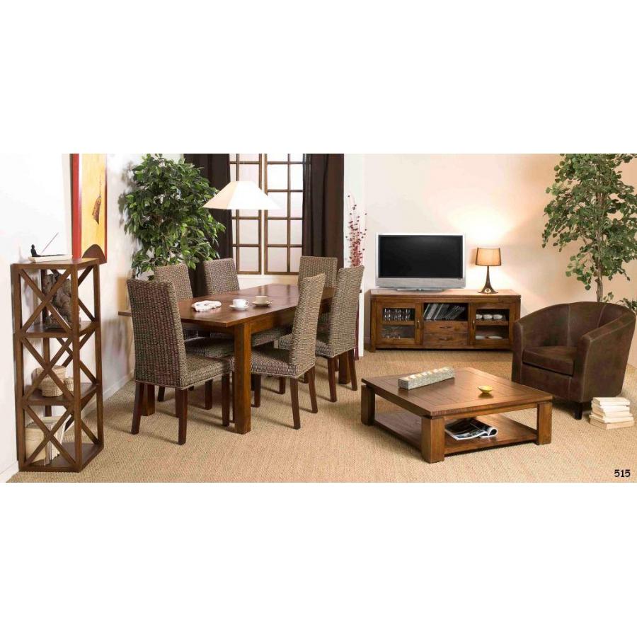 Etag re 40 cm 3 cases croisillons meubles macabane for Meuble 3 etageres