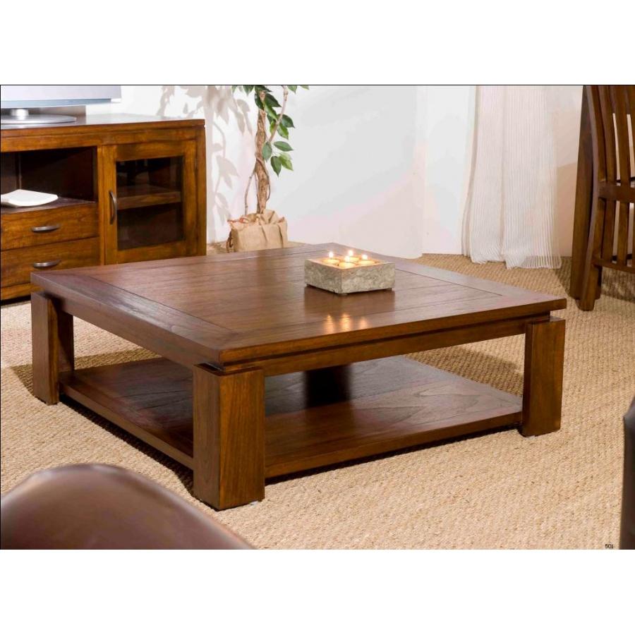 Table basse sous plateau 90 x 90cm meubles macabane for Macabane meuble