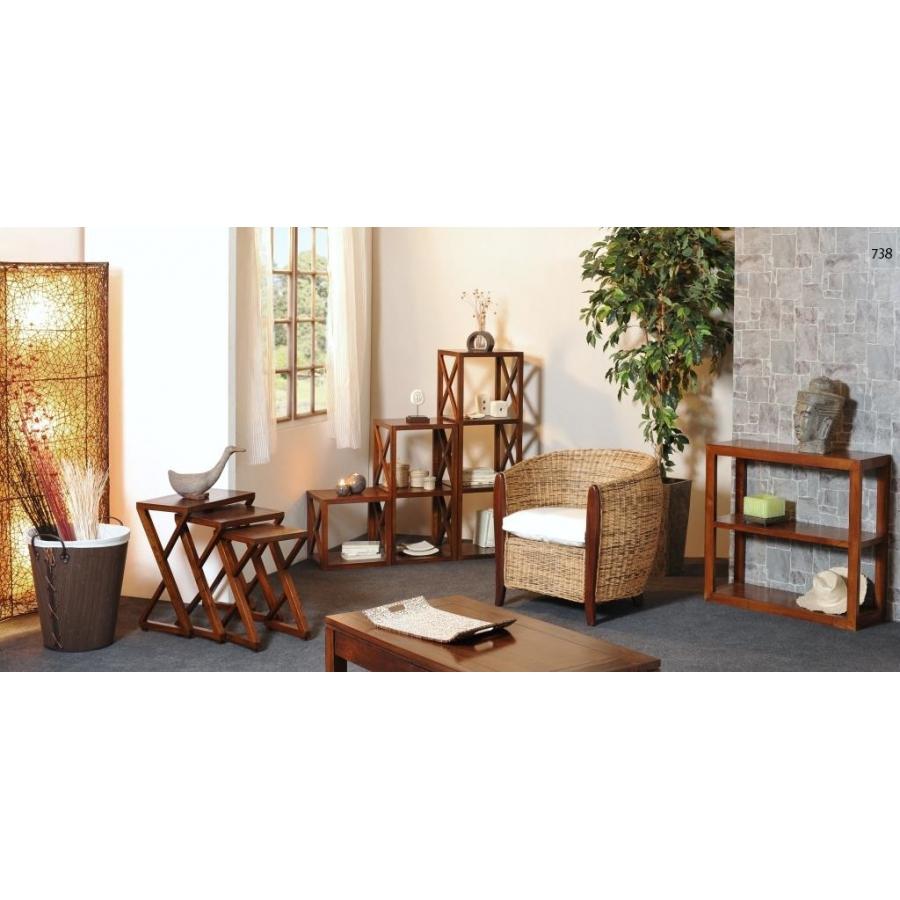 Etag re 40 cm 1 case croisillon meubles macabane for Case en bois