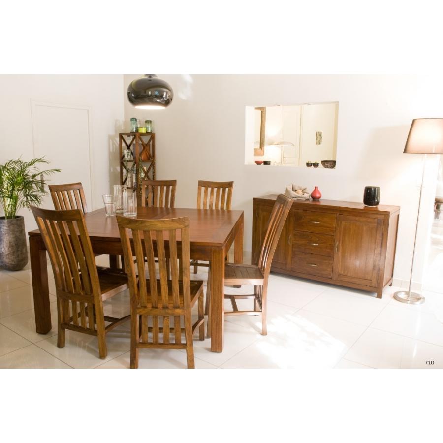 table manger carr e rallonge 140 50 x 140 cm mindi. Black Bedroom Furniture Sets. Home Design Ideas