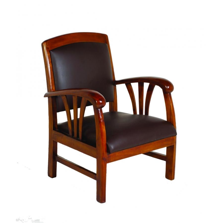 Fauteuil vinyl marron meubles macabane meubles et - Interieur style colonial ...