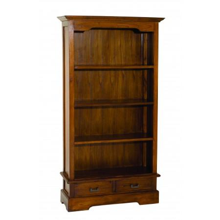 Biblioth que 100 cm 2 tiroirs meubles macabane meubles for Macabane meuble