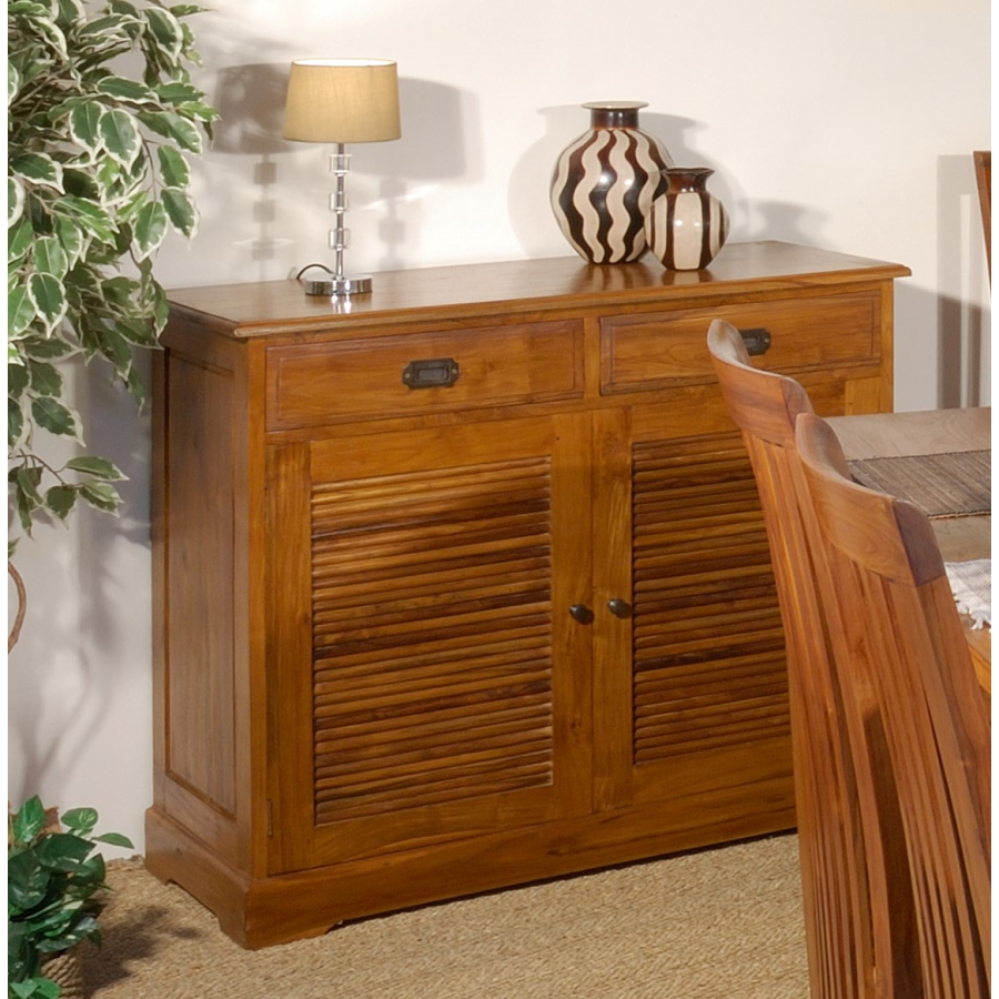 Buffet 2 portes 2 tiroirs teck meubles macabane meubles et objets de d coration - Bahut 2 portes ...