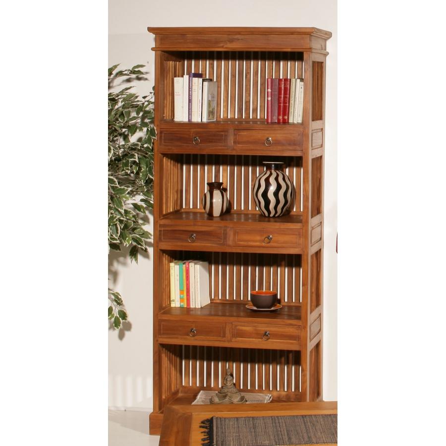 etag re biblioth que 6 tiroirs teck meubles macabane meubles et objets de d coration. Black Bedroom Furniture Sets. Home Design Ideas