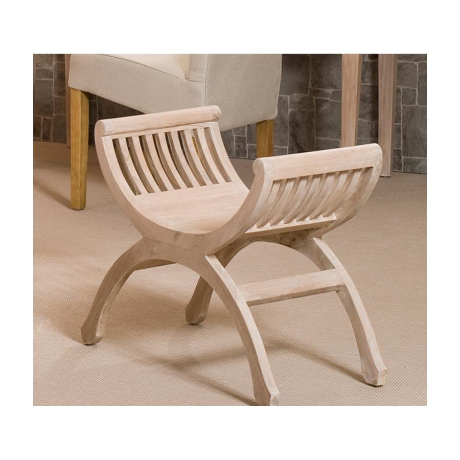 tabouret 1 place teck blanchi meubles macabane meubles et objets de d coration. Black Bedroom Furniture Sets. Home Design Ideas