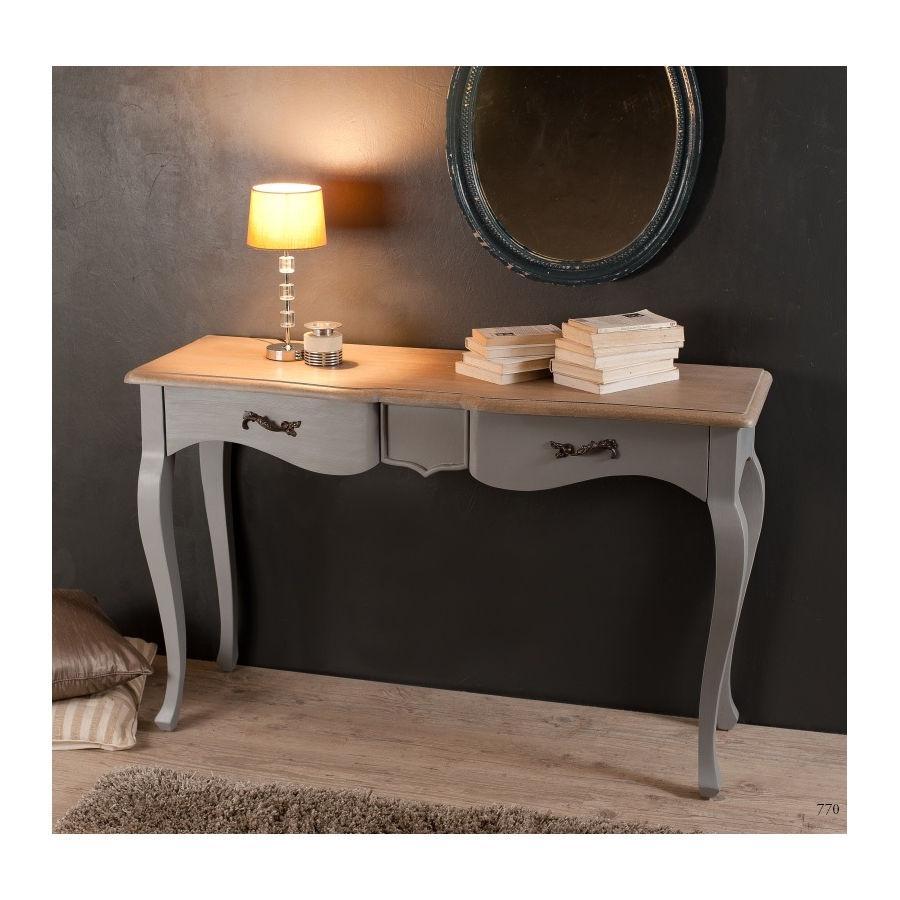 console 2 tiroirs couleur bleu ardoise manguier meubles. Black Bedroom Furniture Sets. Home Design Ideas