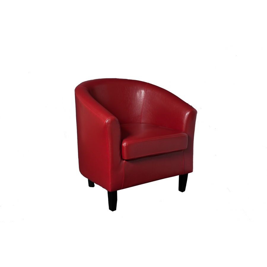 Fauteuil cabriolet new york rouge meubles macabane meubles et objets de d - Fauteuil cabriolet rouge ...