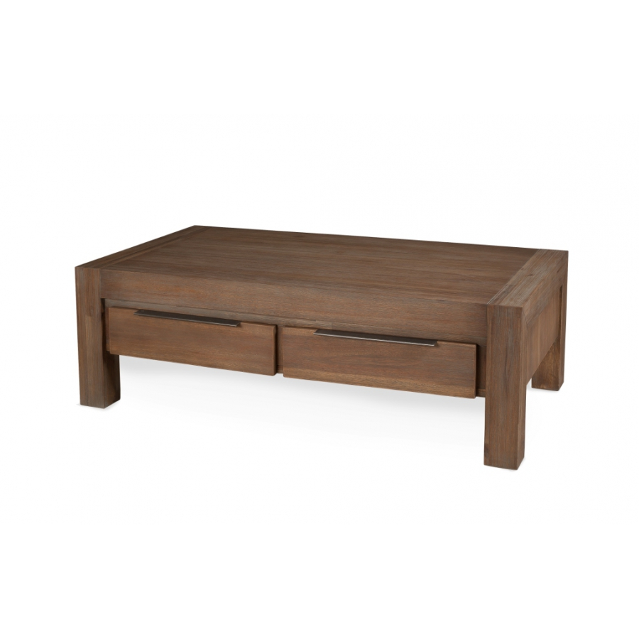 table basse 2 tiroirs 120 x 65 cm acacia meubles. Black Bedroom Furniture Sets. Home Design Ideas
