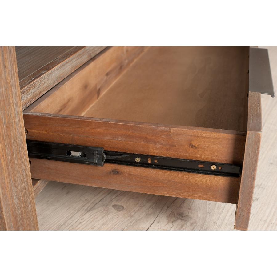meuble tv 1 tiroir acacia meubles macabane meubles et