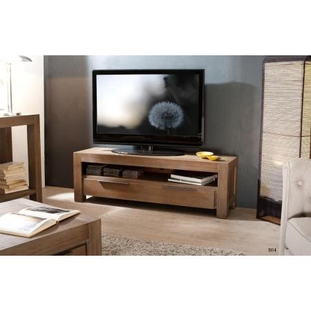 Meuble tv 1 tiroir acacia meubles macabane meubles et for Meuble tv large