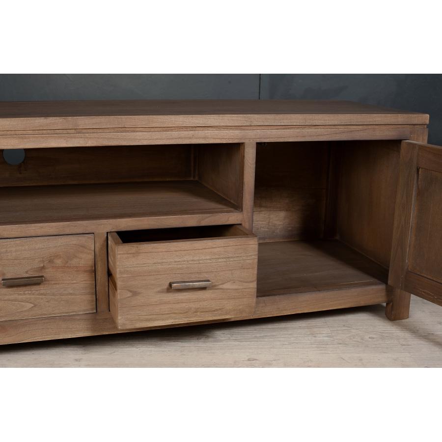 meuble bas tv bois exotique toulon 3916. Black Bedroom Furniture Sets. Home Design Ideas