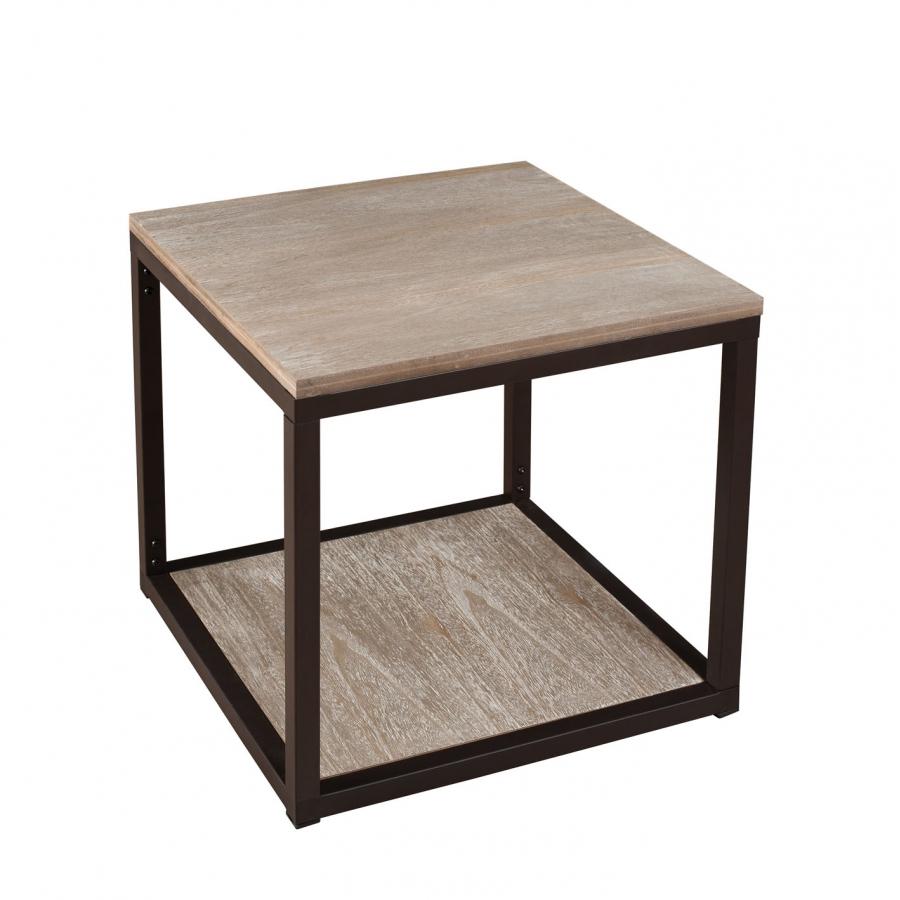 bout de canape avec tablette meubles macabane meubles With nettoyage tapis avec bout de canapé industriel