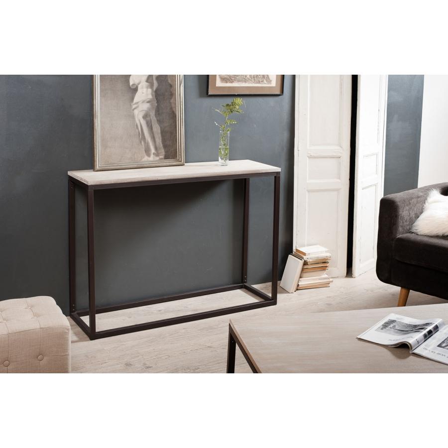 Console rectangulaire meubles macabane meubles et objets de d coration - Console bois et fer smeden ...