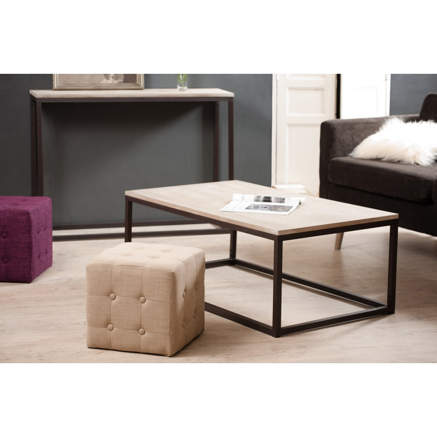 Table basse rectangulaire 115 x 65 cm meubles macabane for Meubles 65