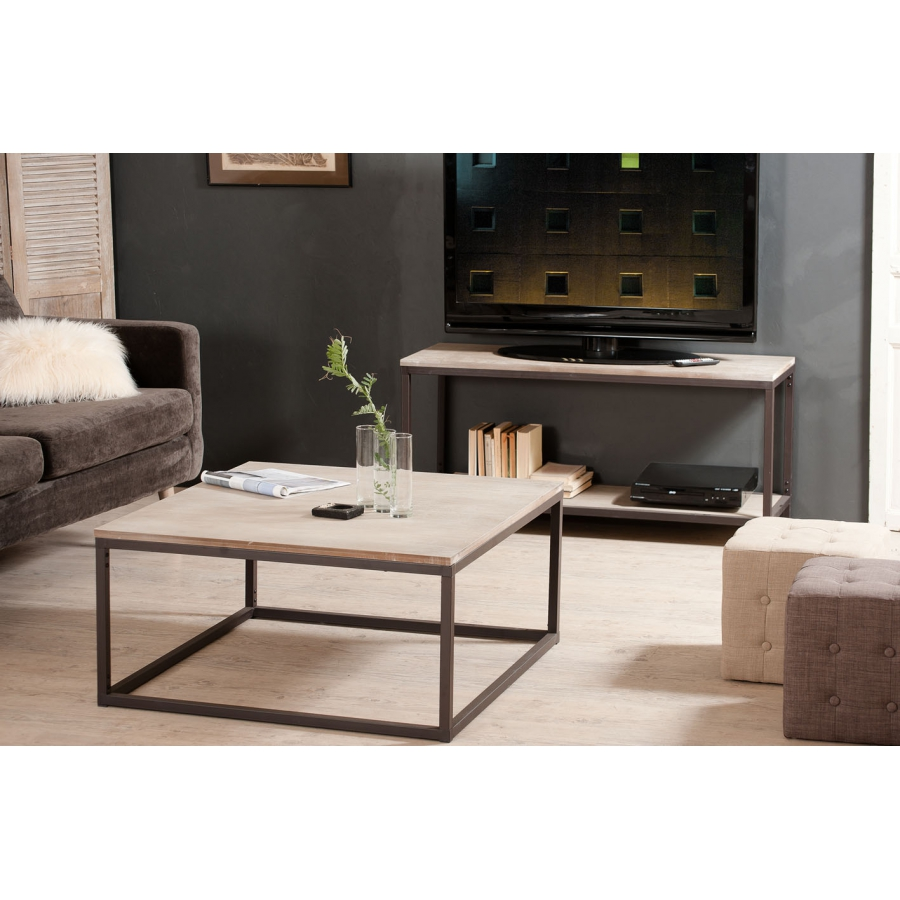table basse carr e 90 x 90 cm meubles macabane meubles. Black Bedroom Furniture Sets. Home Design Ideas