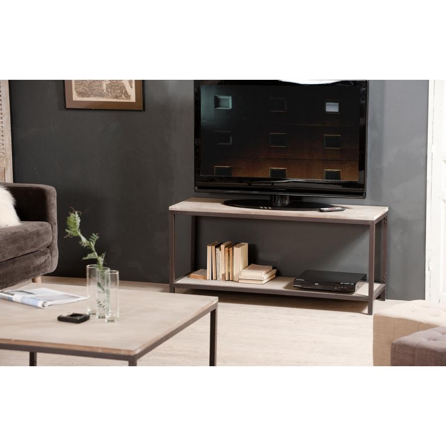 meuble tv avec tablette meubles macabane meubles et objets de d coration. Black Bedroom Furniture Sets. Home Design Ideas