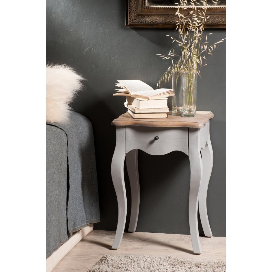 Chevet 1 tiroir couleur bleu ardoise manguier meubles for Set de table ardoise