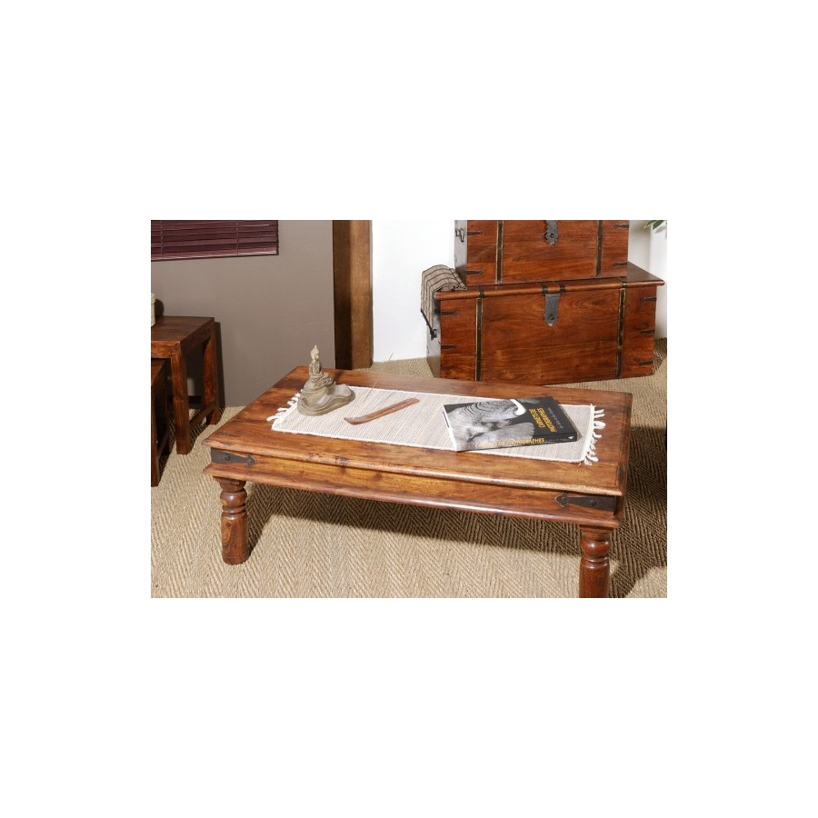 Table basse indiana 110 x 60 cm acacia meubles macabane for Table basse 60 cm