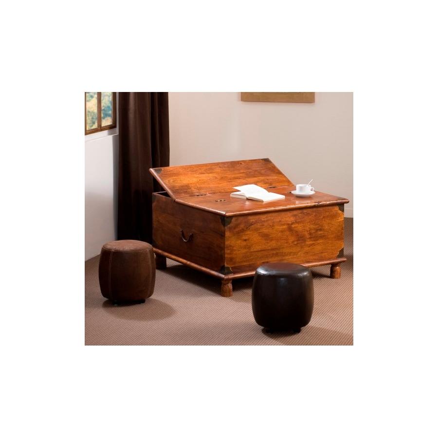 table basse coffre acacia meubles macabane meubles et objets de d coration. Black Bedroom Furniture Sets. Home Design Ideas
