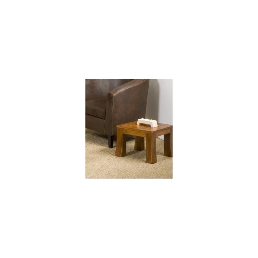 Bout de canap yoko 40 cm teck meubles macabane for Meuble bout de canape