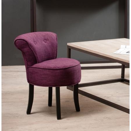 tabouret rond avec dossier tissu couleur prune meubles macabane meubles et objets de d coration. Black Bedroom Furniture Sets. Home Design Ideas