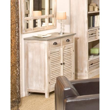 Meuble 2 portes 2 tiroirs paulownia meubles macabane for Macabane meuble