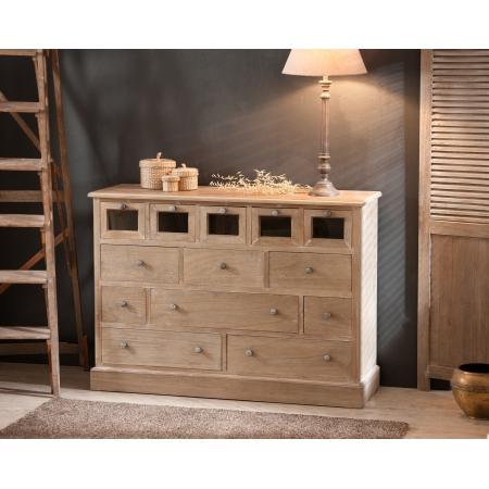 bahut 13 tiroirs paulownia meubles macabane meubles et objets de d coration. Black Bedroom Furniture Sets. Home Design Ideas