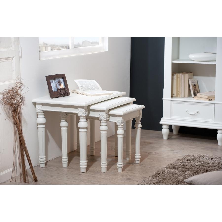 Table gigogne meubles macabane meubles et objets de for Table gigogne blanche