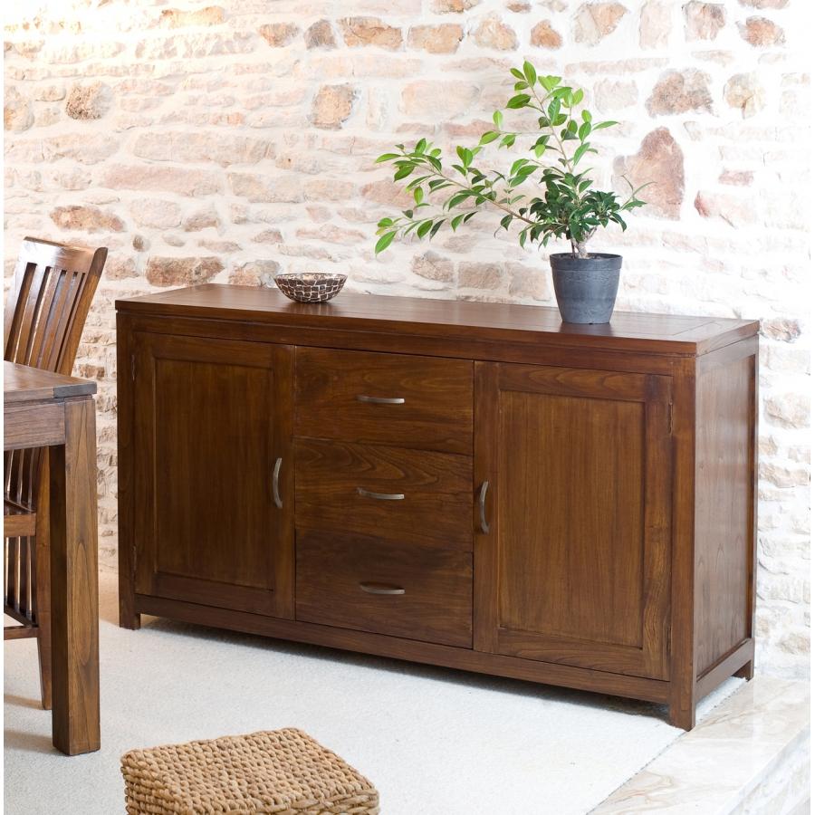 Buffet 2 portes 3 tiroirs mindi meubles macabane - Frigo 2 portes 2 tiroirs ...