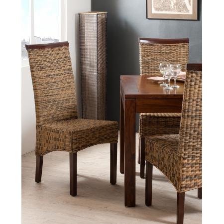 Chaise rotin bi couleur meubles macabane meubles et for Meuble en rotin occasion