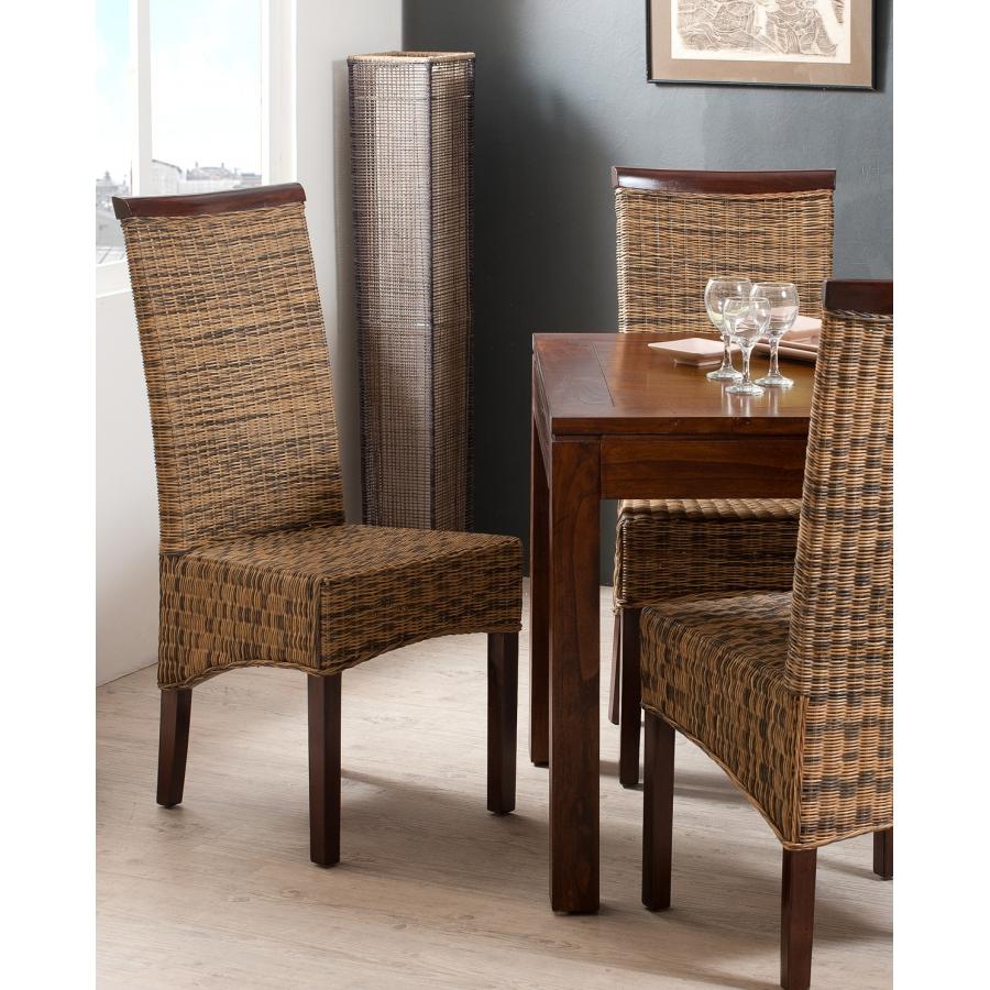 Chaise rotin bi couleur meubles macabane meubles et for Chaise et table en rotin