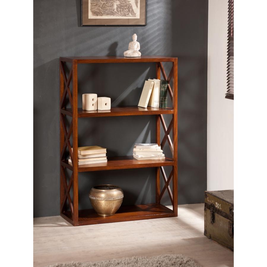 Etag re croisillons 3 niveaux meubles macabane meubles et objets de d cor - Etagere bois exotique ...