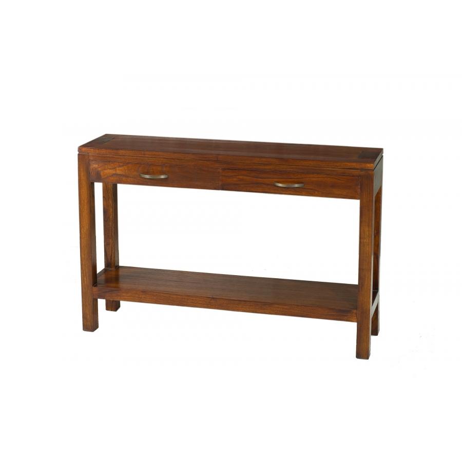 Console moderne rectangulaire 2 tiroirs meubles macabane for Macabane meuble