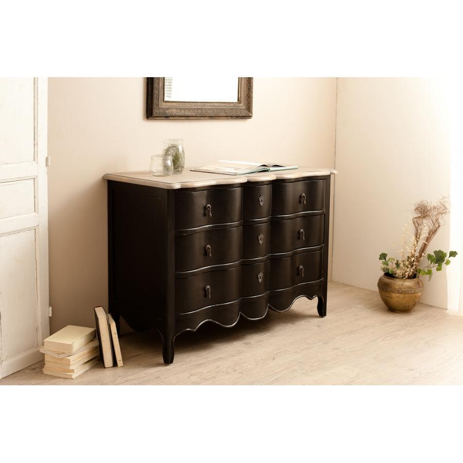 commode 3 tiroirs couleur noire manguier meubles macabane meubles et objets de d coration. Black Bedroom Furniture Sets. Home Design Ideas