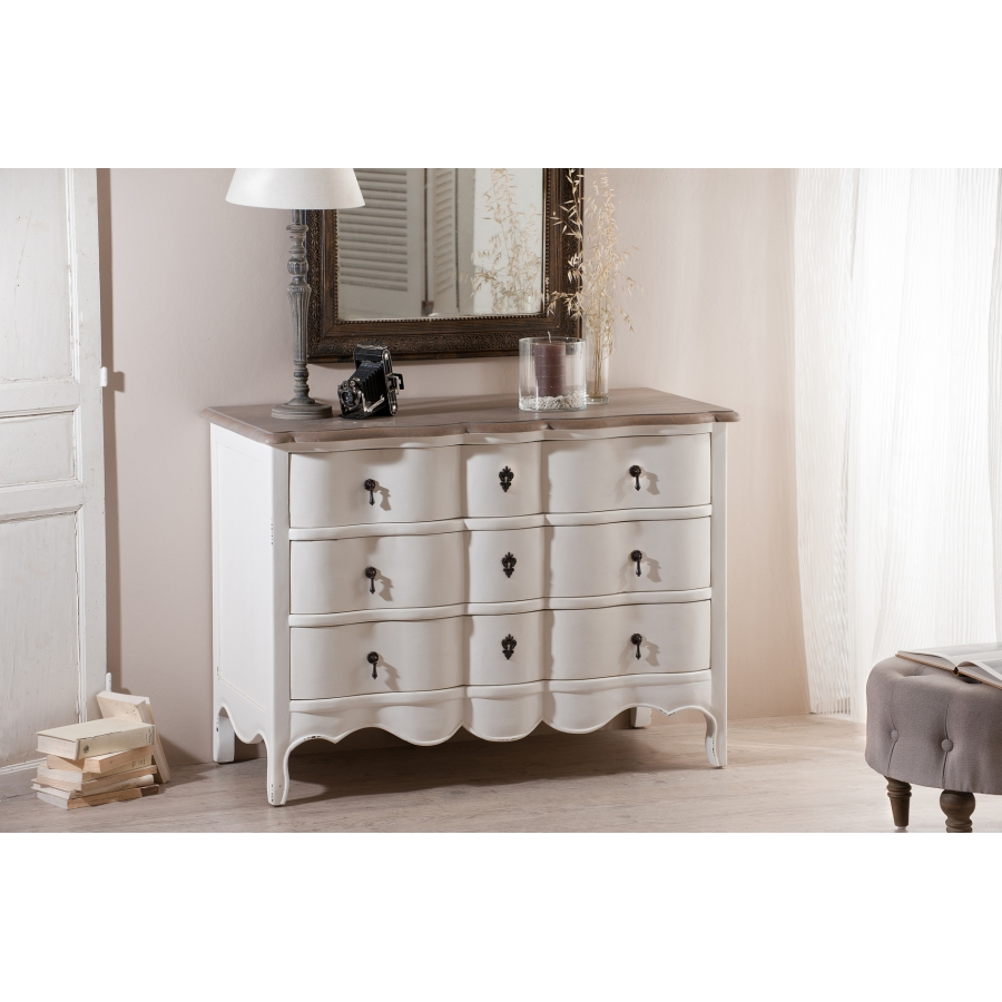 commode 3 tiroirs couleur blanche manguier meubles macabane meubles et objets de d coration. Black Bedroom Furniture Sets. Home Design Ideas