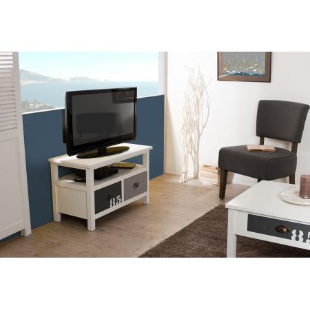 Meuble tv 2 tiroirs meubles macabane meubles et objets for Macabane meuble