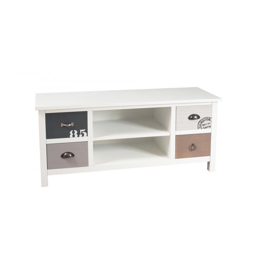 Meuble tv 4 tiroirs meubles macabane meubles et objets for Meuble 4 tiroirs