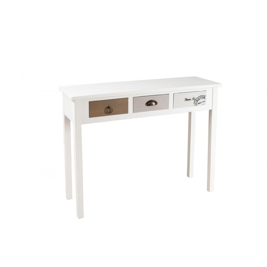console 3 tiroirs meubles macabane meubles et objets de d coration. Black Bedroom Furniture Sets. Home Design Ideas