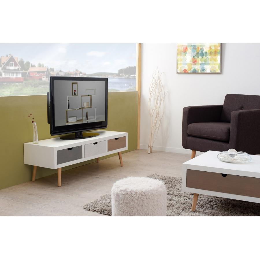 meuble tv 3 tiroirs meubles macabane meubles et objets. Black Bedroom Furniture Sets. Home Design Ideas