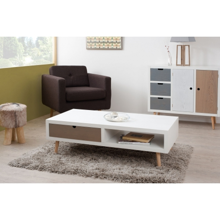 Table basse 2 tiroirs meubles macabane meubles et for Meuble tv et table basse scandinave