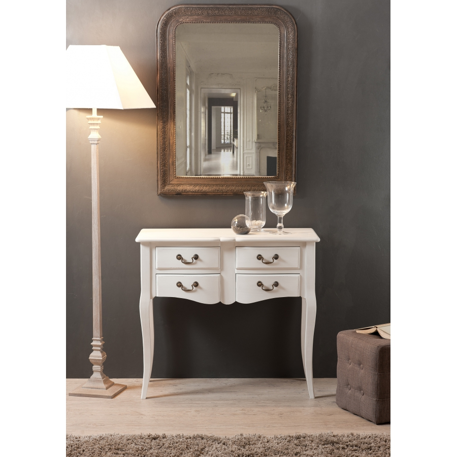 commode 4 tiroirs blanc top commode tiroirs en bois. Black Bedroom Furniture Sets. Home Design Ideas