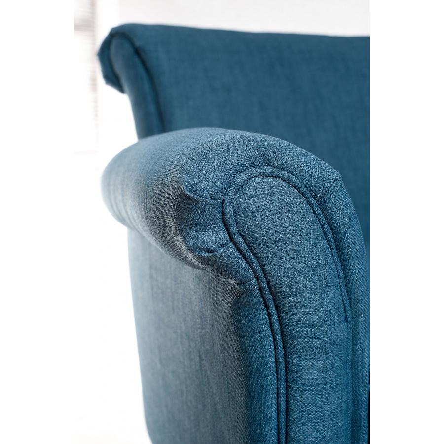 fauteuil ali nor tissu bleu azur meubles macabane meubles et objets de d coration. Black Bedroom Furniture Sets. Home Design Ideas