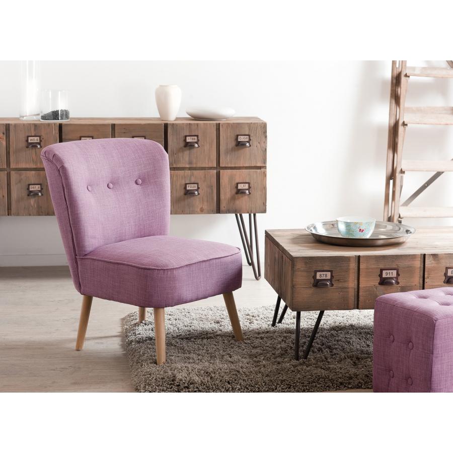 Fauteuil scandi tissu rose meubles macabane meubles et for Petit banc baroque