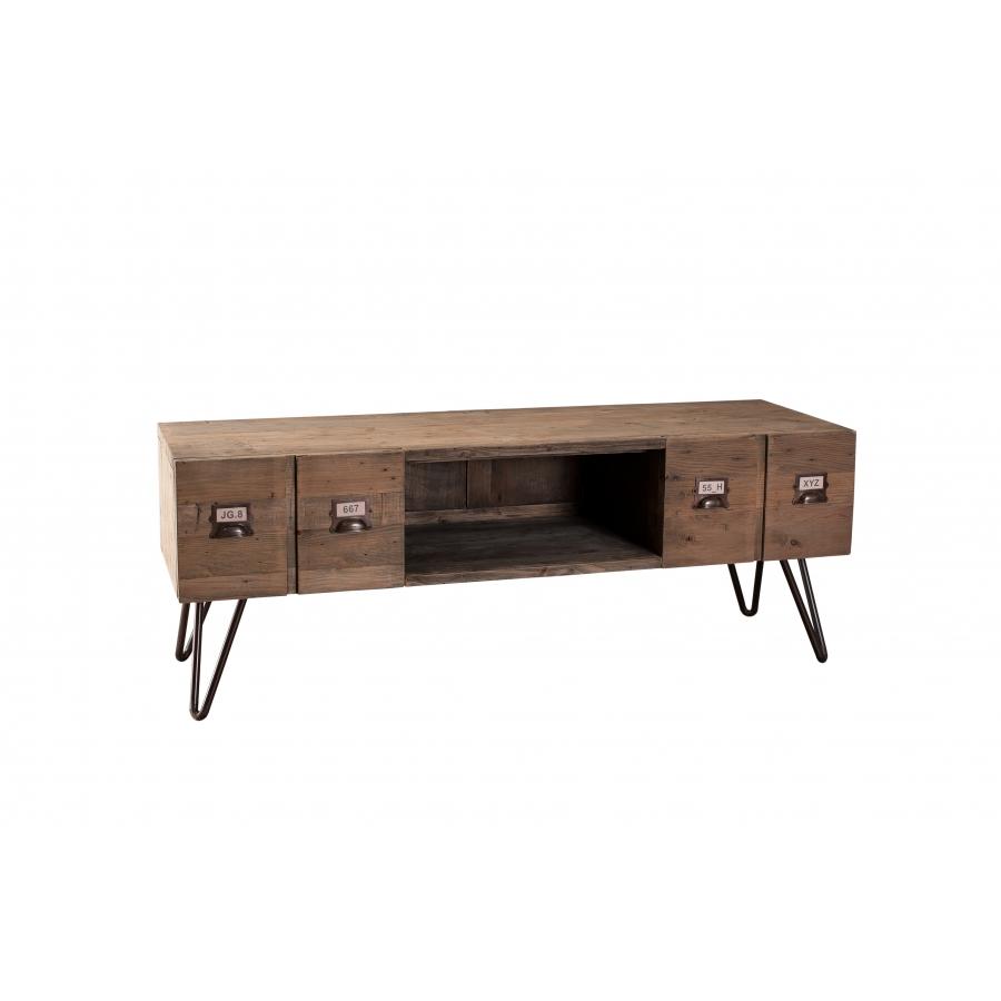 Meuble tv 2 tiroirs meubles macabane meubles et objets for Meuble 2 tiroirs woodstock