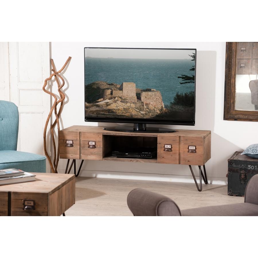Meuble Tv 2 Tiroirs Meubles Macabane Meubles Et Objets De  # Meuble Tv Style Atelier