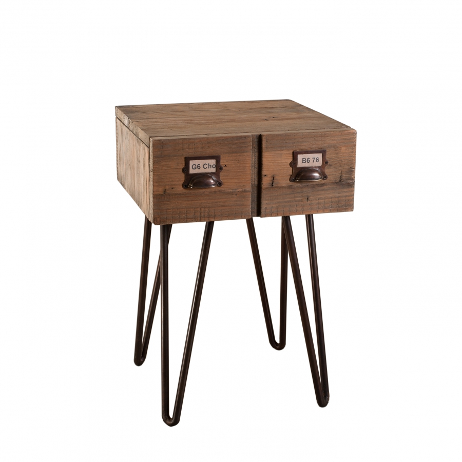 Chevet 1 tiroir meubles macabane meubles et objets de for Macabane meuble