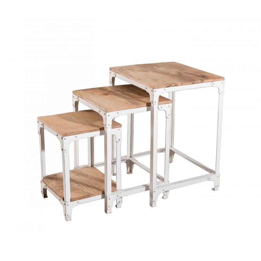 table gigogne industrielle meubles macabane meubles et objets de d coration. Black Bedroom Furniture Sets. Home Design Ideas