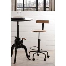 Table basse industrielle grosses roulettes meubles macabane meubles et ob - Table basse ajustable hauteur ...