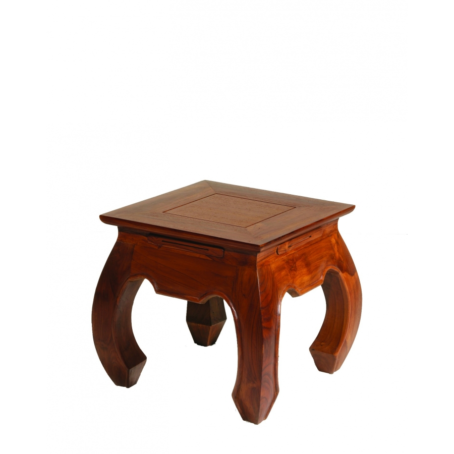 Bout de canap opium 40 x 40 teck meubles macabane for Meuble bout de canape