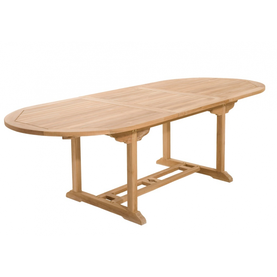 Table ovale ext 180 240 x 100 cm en teck meubles for Table ovale en teck